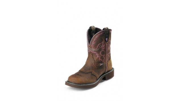 "Justin Ladies-8"" AGED BARK STEEL-TOE Pull-On"
