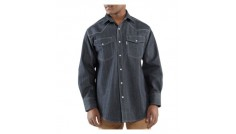 Carhartt Men's Ironwood Denim Work Shirt, Long Sleeve