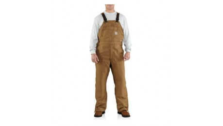 Carhartt - FLAME-RESISTANT CANVAS BIB OVERALL/UNLINED