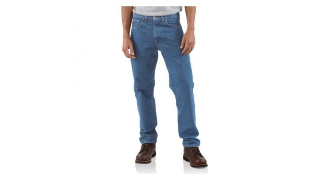 Carhartt Men's Straight Traditional Fit Tapered Leg Jeans