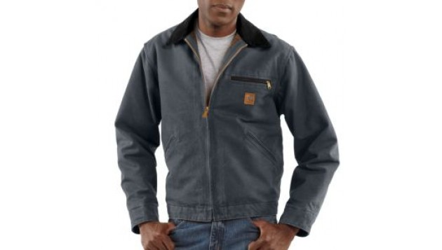 Carhartt - MEN'S SANDSTONE DETROIT JACKET/BLANKET LINED