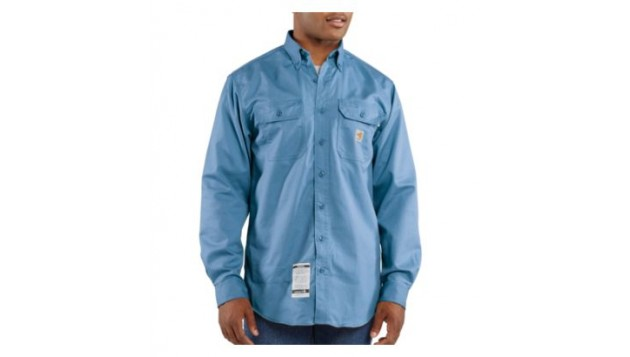 Carhartt Flame-Resistant Twill Shirt with Pocket Flap, Long Sleeve