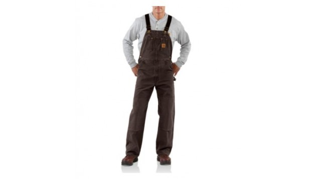 Carhartt Men's Sandstone Duck Bib Overall, Unlined