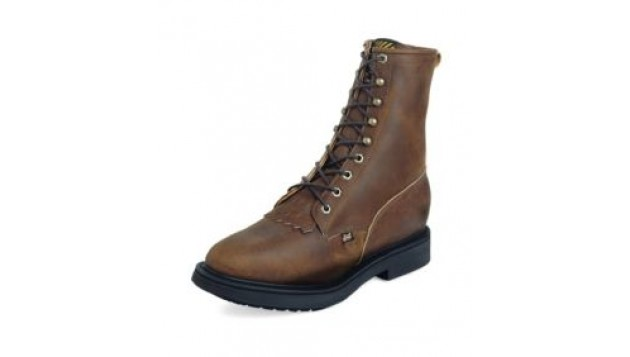 Justin Aged Bark Double Comfort Lace Up Work Boots