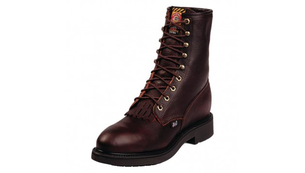 Justin Men's Briar Pit Stop Double Comfort Lace Up Steel Toe Work Boots
