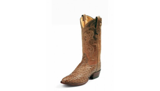 Tony Lama® - MEN'S EXOTIC WESTERN ANTIQUE TAN VINTAGE FULL QUILL OSTRICH