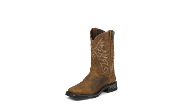 Tony Lama Men's Sierra Badlands TLX Western Waterproof Composite Toe Work Boots