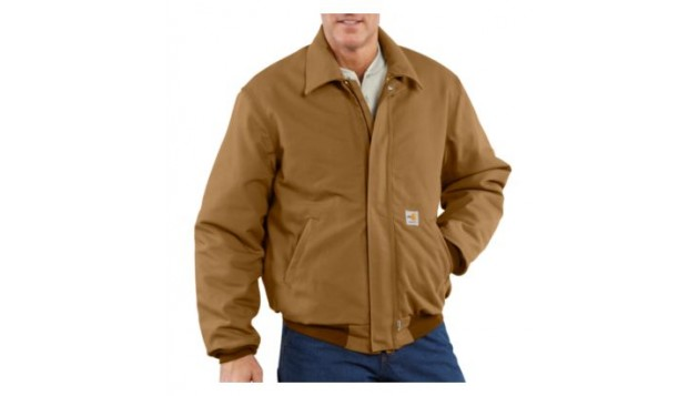 Carhartt Men's Flame-Resistant Duck Bomber Jacket, Quilt-Lined 101623