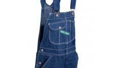 KEY Rinsed Washed Bib Overall - Zipper Fly